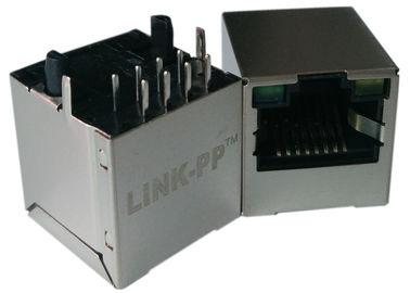 LPJD4012BENL, RJ45 vertical Jack, 1CT: 1CT, 8P8C 10/100Mbps, diodo emissor de luz GY do protetor