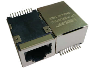 Ponto de entrada Rj45 Jack de LPJ19205DNL SMT, poder de 1x 10/100Mbps IEEE 802.3af sobre o Ethernet