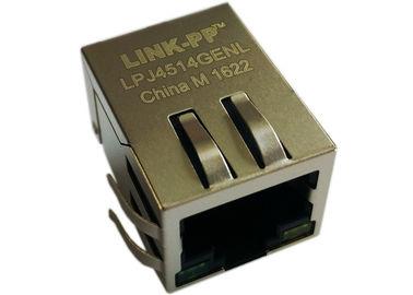 Poder de LPJ4514GENL 1x Rj45 sobre o Ethernet, 90 graus R/A 10/100Mbps IEEE802.3af