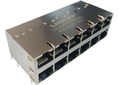 Conector 1000Base-T do ponto de entrada RJ45 de LPJG67011AGNL 2x6 com diodo emissor de luz IEE802.3at