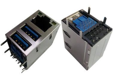 protetor combinado de 2x USB3.0 Jack RJ45 Gigabit Ethernet LPJU1608AHNL/diodo emissor de luz GY