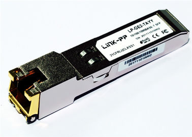 Rj45 revestem SFP 10/100/1000 de BASE-T SGMII -40°C ao Temp industrial de +85°C Gigabit Ethernet 1,25